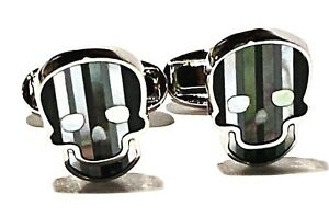 PAUL SMITH MOTHER OF PEARL SKULL FIGURE PORTRAIT CUFFLINKS NEW CONDITION