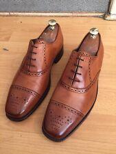 Barker Tan  Leather Brogue Shoe Uk 8.5, Eu 42.5 Made In England.