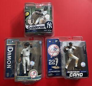 NEW YORK YANKEES McFarlane MLB Baseball Lot Set of 3 Damon Cano Granderson