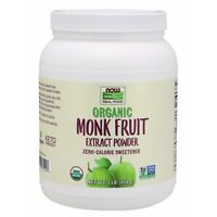 NOW Foods Monk Fruit Extract, Organic Powder, 1 lb.