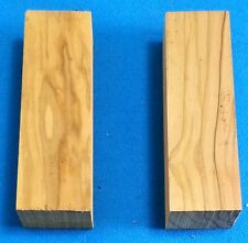 """2 Pcs. Olivewood 1"""" x 1.5"""" x 5"""" Wood Knife Handle Material Blanks Scales"""