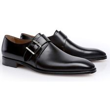 Moreschi Men's Lucca Monk Strap Shoes Black - Size 8.5  *New In Box*