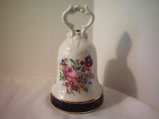 Beautiful Floral Design Vintage Bell Marked Otco Made in Italy