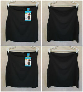 LOT OF 2 NWT SHAPERCISE 2XL 16-18 Black Cool Smoothing Light Control Half Slips