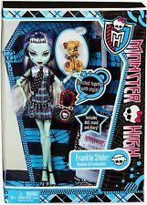 MONSTER HIGH Doll Frankie Stein WAVE original 2012 + pet 6-13 by Mattel NEW
