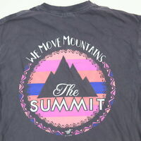 Comfort Colors The Summit Cheerleading T-Shirt SMALL Soft Faded Purple Mountain