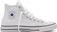 Converse Mens Chuck Taylor All Star High Tops Woven White Red Sneakers 151231C