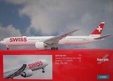 Herpa Wings 1:500  Boeing 777-300ER  SWISS HB-JNF  529136-001  Modellairport500