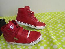Men Vlado Leather Supra SB Atlas II Red White Hi-Top Sneaker Trainers Shoes Sz10