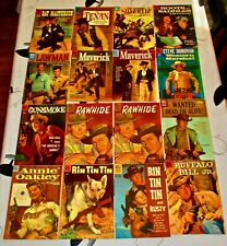 Lot of 16-10 Cent DELL TV SHOW WESTERN COMIC BOOKS-Clint Eastwood, Steve McQueen