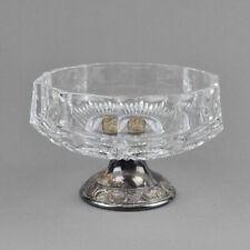 Kristallglas Schale - Fuß versilbert - Konfektschale - Anbietschale - Crystal