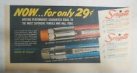 Scripto Pens & Pencils Ad: Now Only 29 Cents ! from 1940's Size: 7 x 15 in