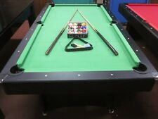 7 FOOT BLUE FELT POOL TABLE WITH ACCESSORIES  NEW 2018 MODEL [GREEN]