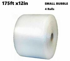 """Bubble Cushioning Wrap 3/16"""" 700ft x 12""""Small Bubble 4Rolls Perforated Every 12"""""""