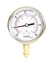 Compound Pressure Vacuum Gauge Glycerine Filled 63mm -1/+7 Bar -30*Hg/+100 PSI