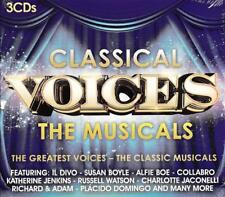 CLASSICAL VOICES: - THE MUSICALS - VARIOUS ARTISTS (NEW SEALED 3CD )