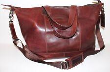 ROY ROBSON Echt LEDER XL Tasche REISETASCHE WEEKENDER Cognac Leather BAG BRAUN