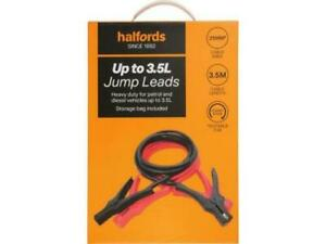 Halfords Up to 3.5L Jump Leads For Emergency Jump Starting 3.5m Cables