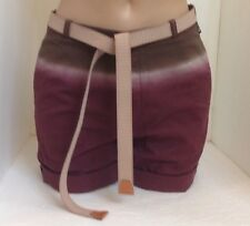 Prada Shorts Maroon Hombre Cotton Size 38 With Elastic Tie