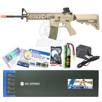 NEW G&G TAN Airsoft M16 M4 M4A1 RIS Raider Long AEG Rifle Gun W/ Battery Charger