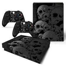 Xbox One x Skin Design Foils Sticker Screen Protector Set - Skulls Motif