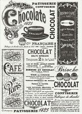 Carta di riso per Decoupage Decopatch Scrapbook Craft sheet Black & White Chocolate