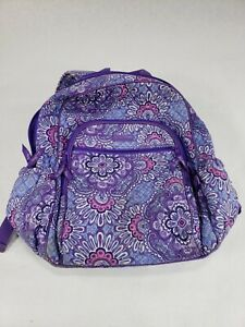 "Vera Bradley Lilac Tapestry ""Campus Tech"" Travel Laptop Backpack Trolley Sleeve"