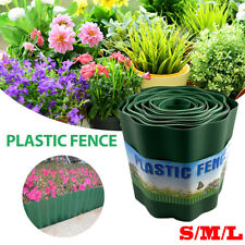 PLASTIC GARDEN EDGING BORDER GRASS LAWN EDGE FENCE WALL DRIVEWAY ROLL PATH NEW