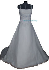 WEDDING dress Brand new IVORY sz12 - 901 ABBY-Ivory gown with white embroidery