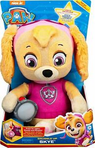 Spin Master Paw Patrol Snuggle Up Skye Plush With Torch And Sounds Fun Children