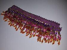 frange de perles lustre lampe parisienne pampilles abat-jour 50 cm