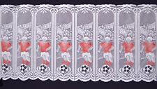 Fußball Scheibengardine Kindergardine Fußballgardine Rot Weiß Bundesliga Neu