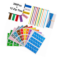 360 Pcs Cable Tags Labels Stickers Waterproof Markers Printable and Handwriting