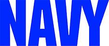 US NAVY DECAL / STICKER - SET OF 2 - BLUE