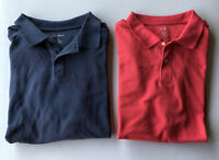 Men's LOT OF 2 L.L. Bean Short Sleeve Polo Shirts Pre-Owned Size XL