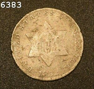 1852 *Silver* Three-Cent Piece (Trime) *Free S/H After 1st Item*