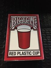 2)Bicycle Red Plastic Cup Playing Cards Poker New