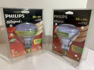 Philips BR30 Halogena Energy Saver Reflector Flood Light 50 WATT INDOOR 2 Pack