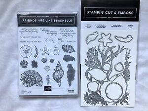 Stampin Up! Friends Are Like Seashells-stamp set & Seaside Seashells Dies~new