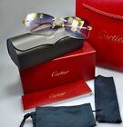 New CARTIER Rimless Harmattan C Decor Gold smooth Occhiali Frame Sunglasses