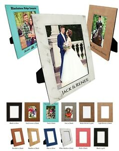 Griffco Supply Leatherette Personalized Picture Frame - Custom Photo Frame Avail