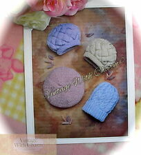 Vintage Knitting Pattern 3 Styles Of Cosy Hat; Entrelac, Cable & Beret. FREE P&P