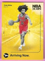 2019-20 Panini NBA Hoops Coby White Arriving Now Insert #16 Chicago Bulls Read