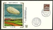 1974 V.F. FDC Colorano Silk Cachet History Aviation & The Graf Zeppelin 11th SAF