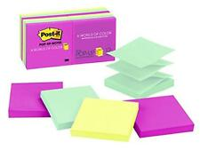 Post-it Pop-up Notes, 3 in x 3 in, Marseille Collection, 12 Pads/Pack, 100 Sheet