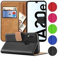 Book Case für Samsung Galaxy A20e Hülle Tasche Flip Cover Handy Schutz Hülle