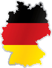 "Germany Country Flag Map Car Bumper Window Mirror Sticker Decal 4""X5"""
