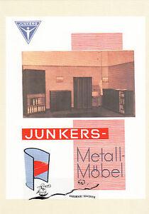 Karte: Reklameblatt Junkers - Metallmöbel, 1927 - Nachdruck