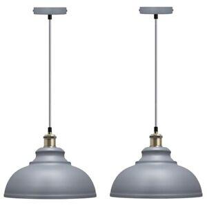 2 x Vintage Industrial Metal Ceiling Pendant Shade Modern Hanging Light M0089