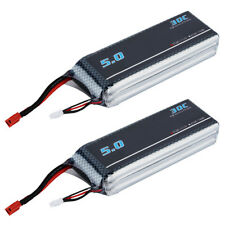 2X 5000mAh 3S 11.1V 30C Li-Po Battery Pack RC Airplane Boat Deans Plug U0Y5